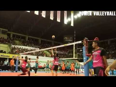 Show ball top volleyball player