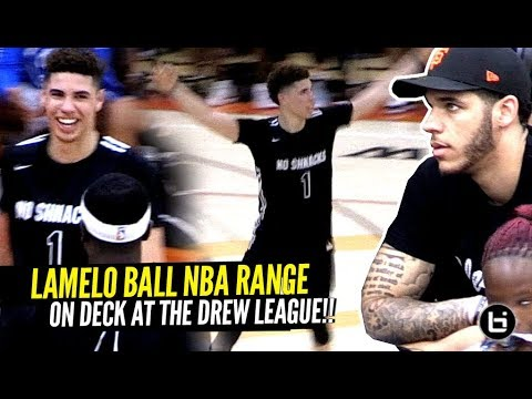 LaMelo Ball GOES DUMMY &amp Shows OFF NBA RANGE At The Drew League w Lonzo Watching