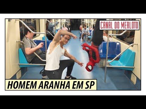 DESAFIO DO HOMEM ARANHA DE CABEÇA PARA BAIXO NO METRÔ